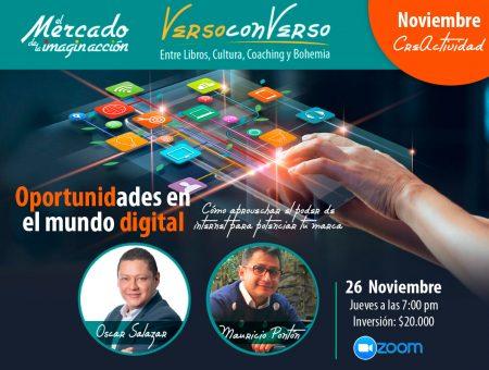 Verso Converso: Oportunidades en el mundo digital. Charla con Óscar Salazar